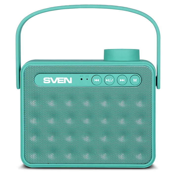 Колонки Sven PS-72 Green (6W, Bluetooth, FM, USB, аккумулятор)