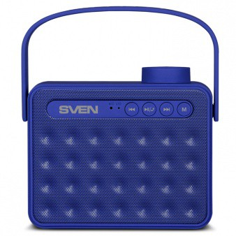 Колонки Sven PS-72 Blue (6W, Bluetooth, FM, USB, аккумулятор)