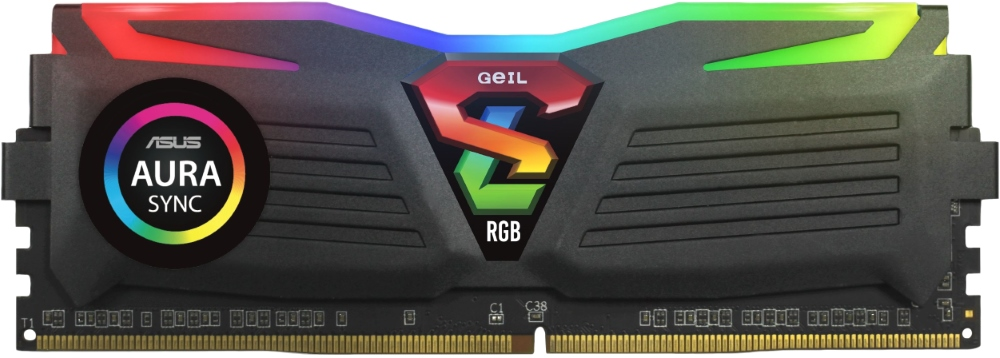 Модуль памяти 16Gb (2x8Gb) Geil Super Luce Black RGB Sync (GLS416GB3200C16ADC) 3200MHz PC4-25600 16-18-18-36 1.35V