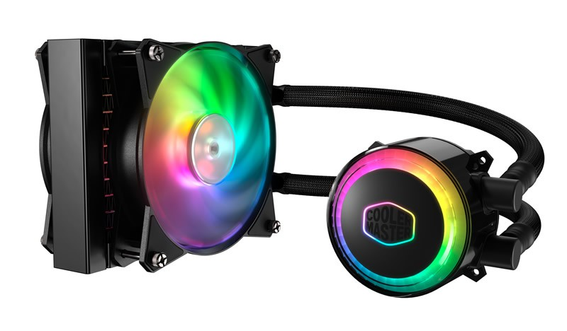 Система водяного охлаждения Cooler Master MasterLiquid ML120R RGB (MLX-D12M-A20PC-R1) (SocAll, 120mm, 650-2000rpm, 66.7CFM, 6-30dBA, RGB подсветка)