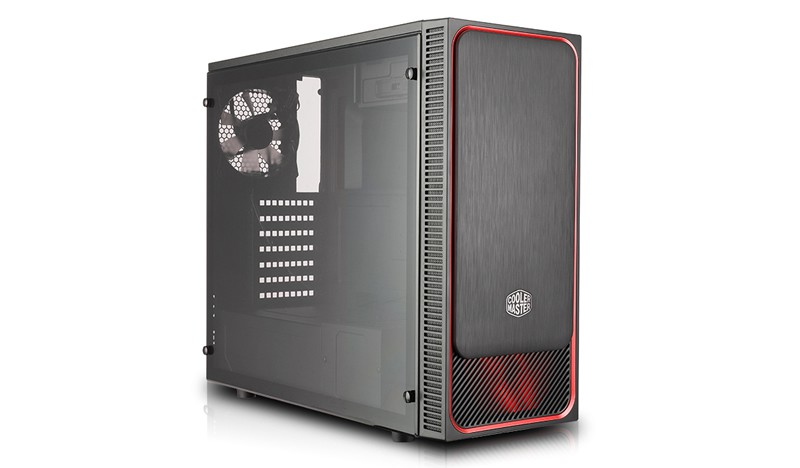 Корпус Cooler Master MasterBox E500L (MCB-E500L-KA5N-S01) Black/Red (Miditower, ATX, USB3, 2xFan, Window, подсветка)