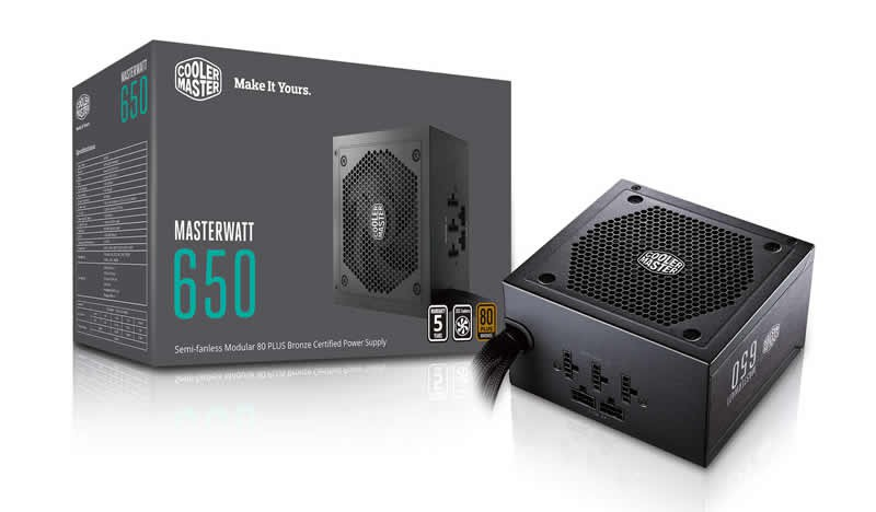 Блок питания 650W Cooler Master MasterWatt 650 (MPX-6501-AMAAB-EU) (120мм, 24+8pin, 4x6/8pin, 3xMolex, 9xSATA, 80Plus Bronze)
