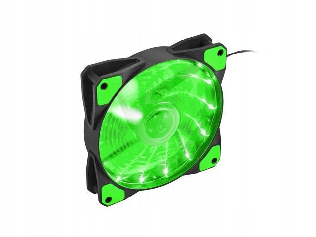 Вентилятор Genesis Hydrion 120 (NGF-1168) (120мм, 1000rpm, 42.1CFM, 18.8dBa, Green Led, 3-Pin/4-Pin (Molex))