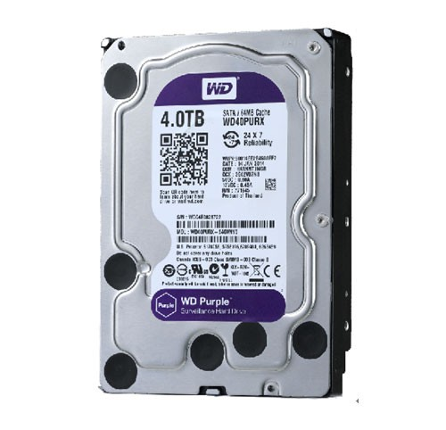 Жесткий диск 4Tb Western Digital Purple 4TB (WD40PURX) Purple SATA-3 5400rpm 64Mb