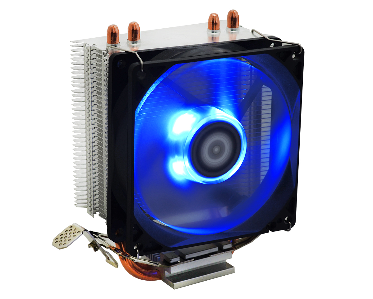 Вентилятор ID-Cooling SE-902X (ID-CPU-SE902X) (Socket All, 92mm Blue LED, 600-2200rpm, 38.5CFM, 14-23.8dBa, 100W, 4pin PWM)
