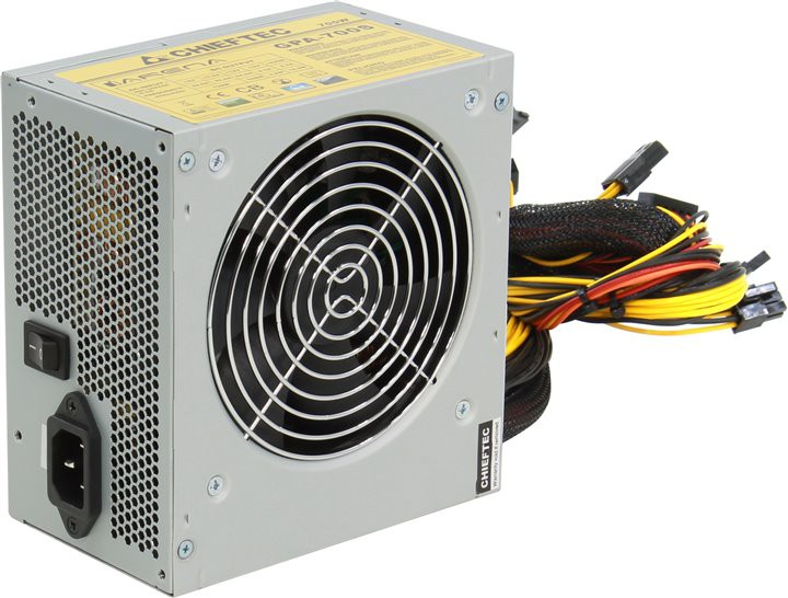 Блок питания 700W Chieftec iArena GPA-700S (120mm, 24+4-pin, 2х6/8-pin, 2xMolex, 6xSATA, aPFC, 80+)