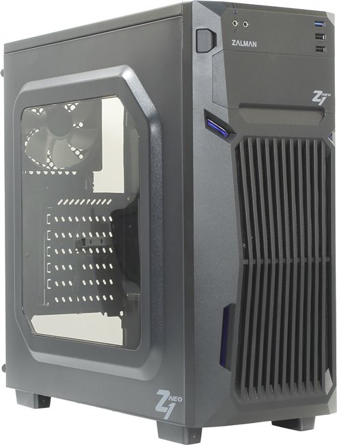 Корпус Zalman Z1 Neo Black (Miditower, ATX, USB 3.0, 3xFan, Window)
