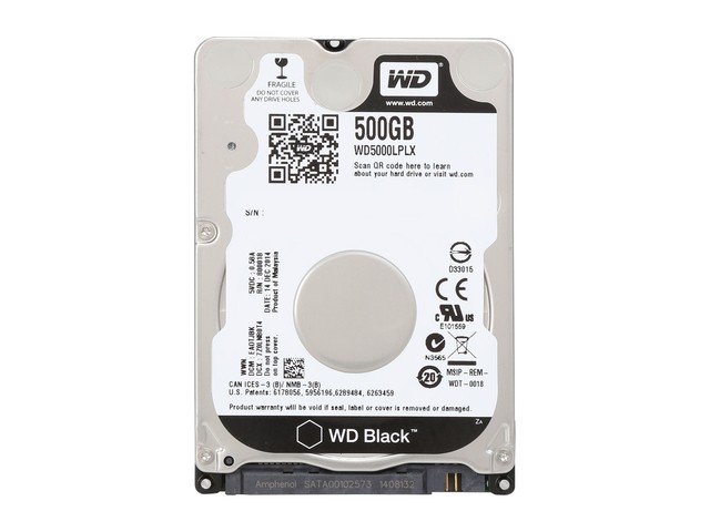 Жесткий диск 500Gb Western Digital WD5000LPLX Black (SATA-3 7200rpm 16Mb)