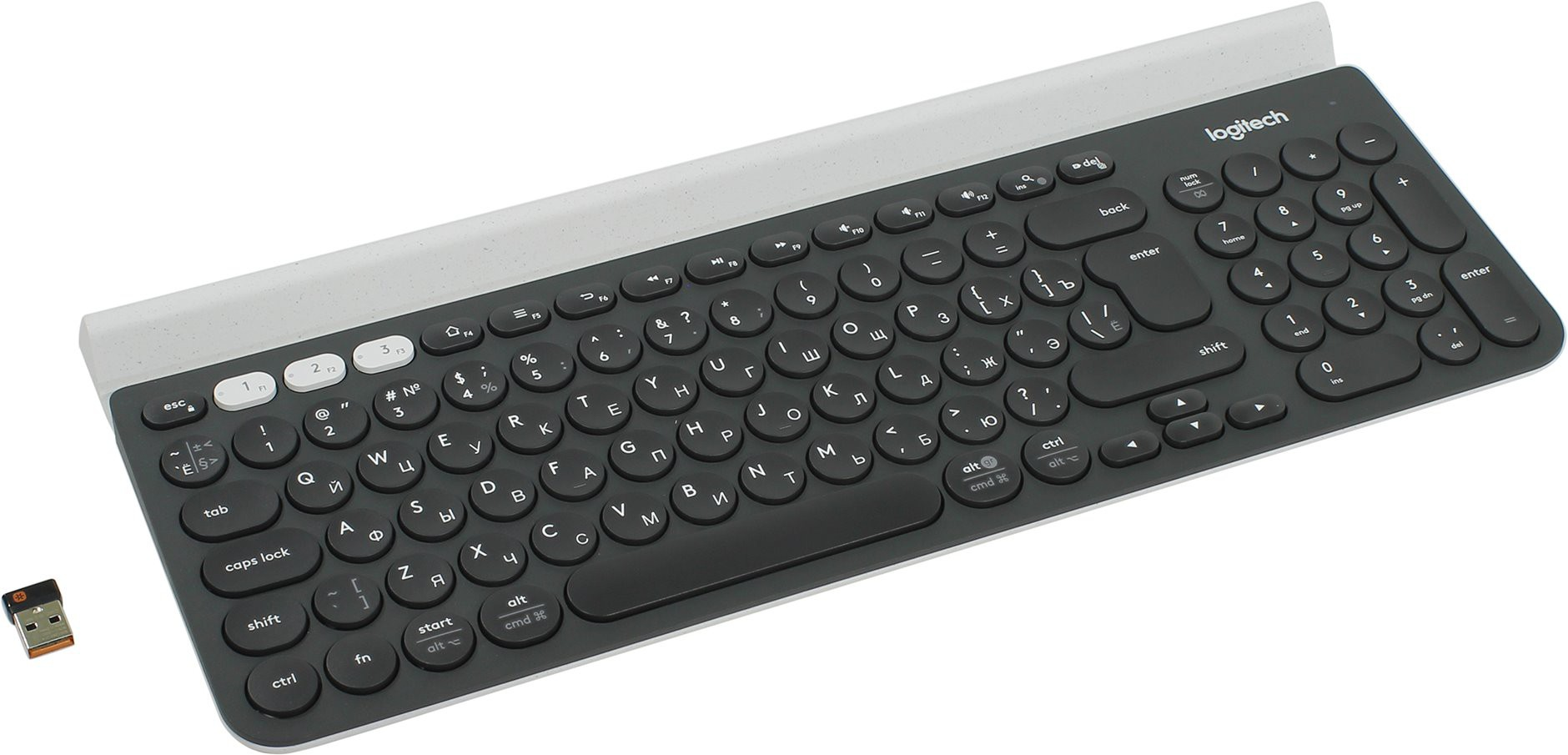 Клавиатура Logitech Multi-Device K780 Wireless 920-008043 (Bluetooth + радио, до 3х устройств)