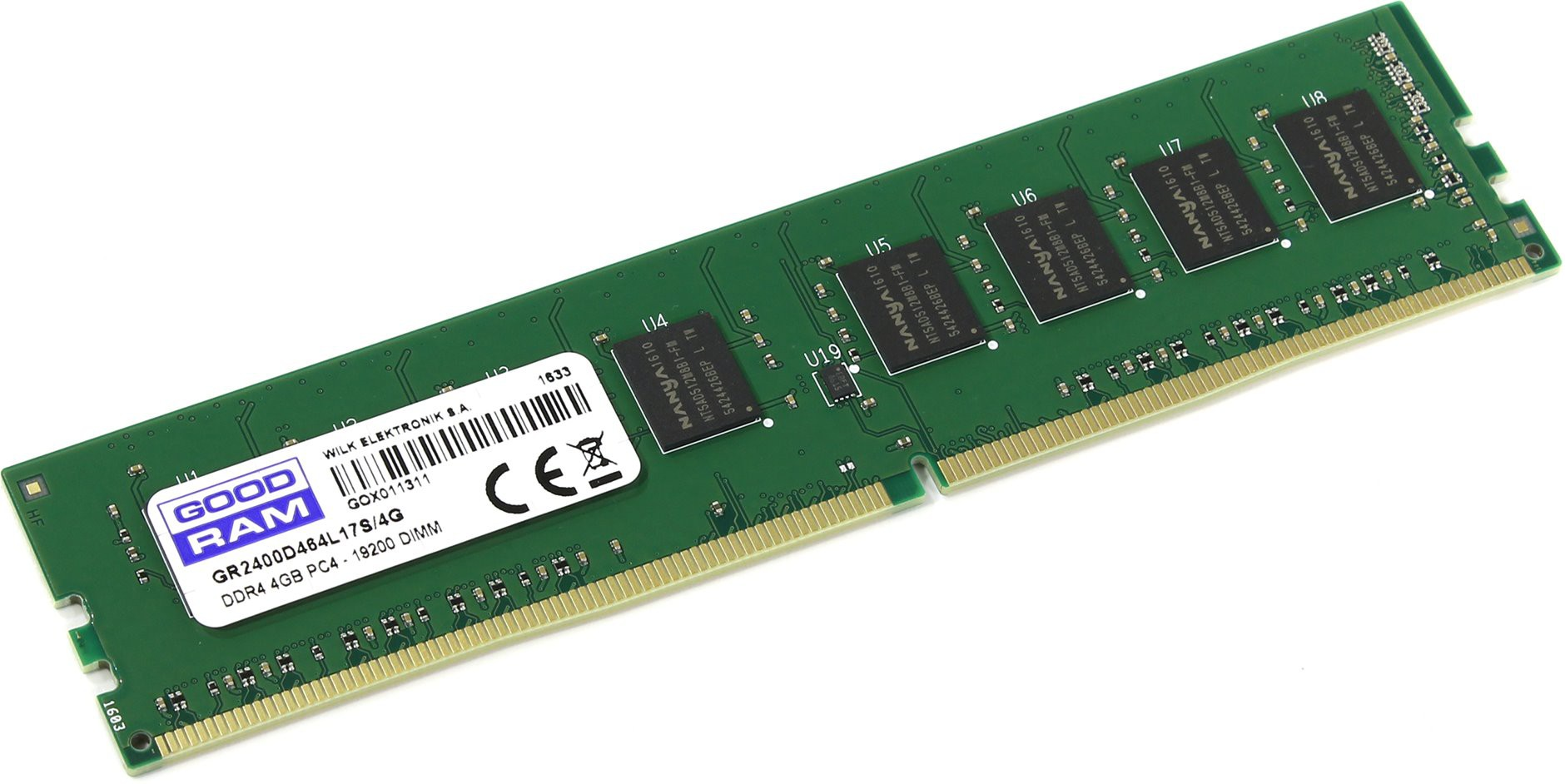 Модуль памяти 4Gb Goodram GR2400D464L17S/4G 2400 PC-19200 17-17-17 1.2V
