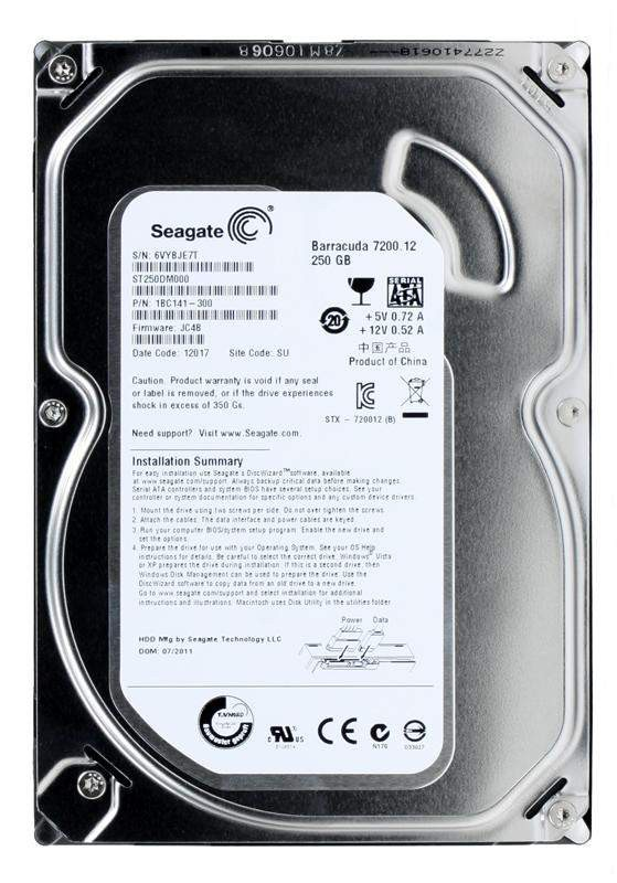 "Жесткий диск 250Gb Seagate Barracuda 7200.12 (ST250DM000) (SATA3.0, 3.5"", 7200rpm, 16Mb)"
