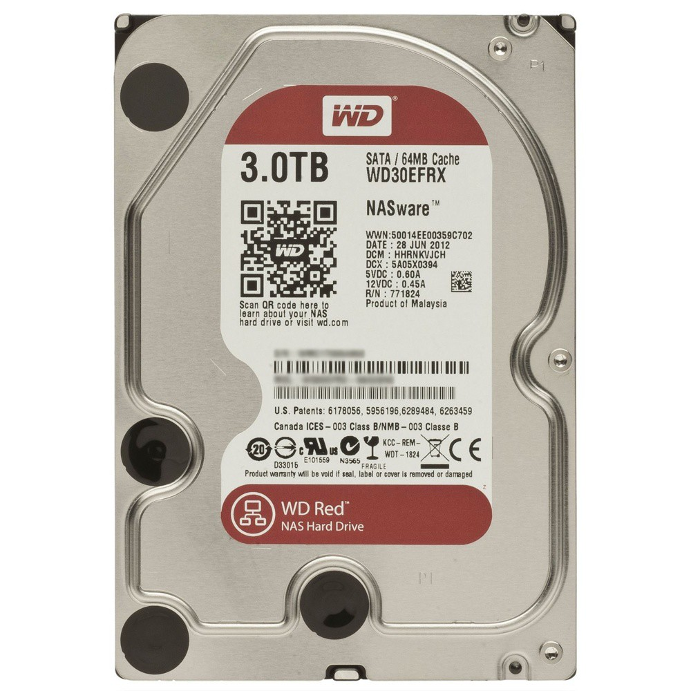 Жесткий диск 3Tb Western Digital Red WD30EFRX