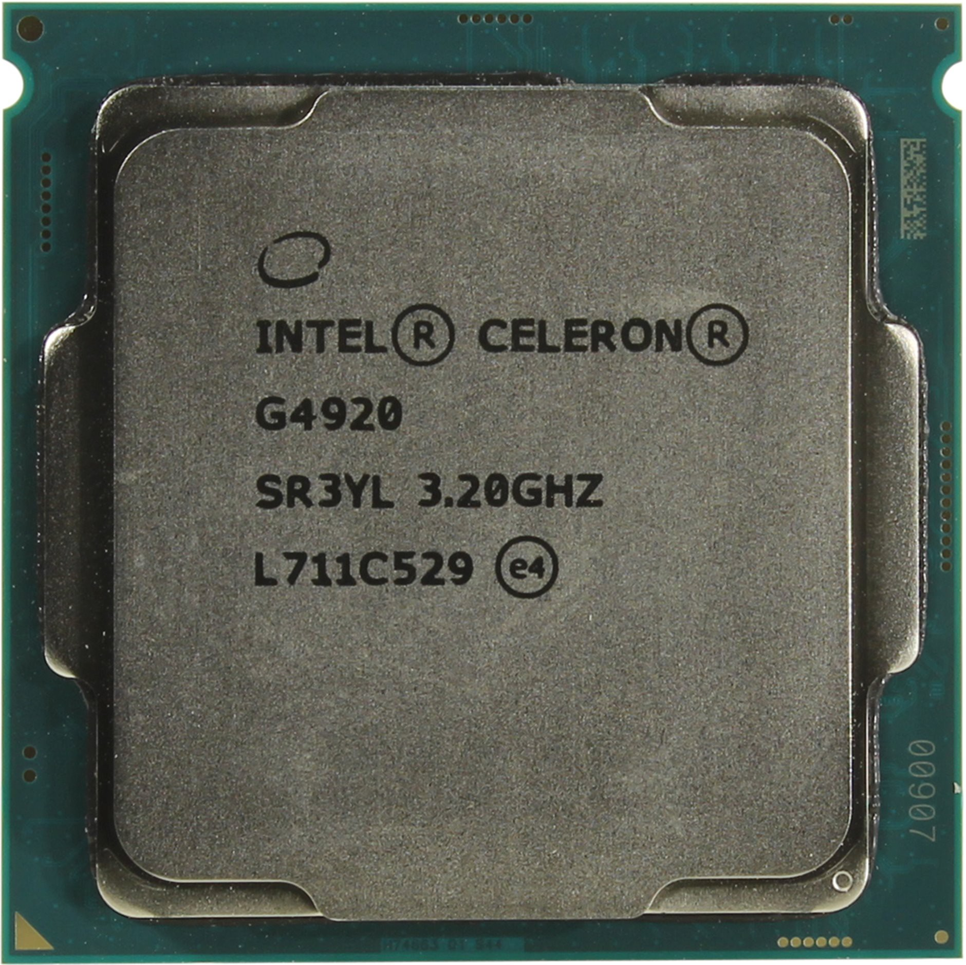 Процессор Intel Celeron G4920 3.2GHz, 2 ядра / 2 потока, 2Mb, HD Graphics 610, 54W (Socket 1151)