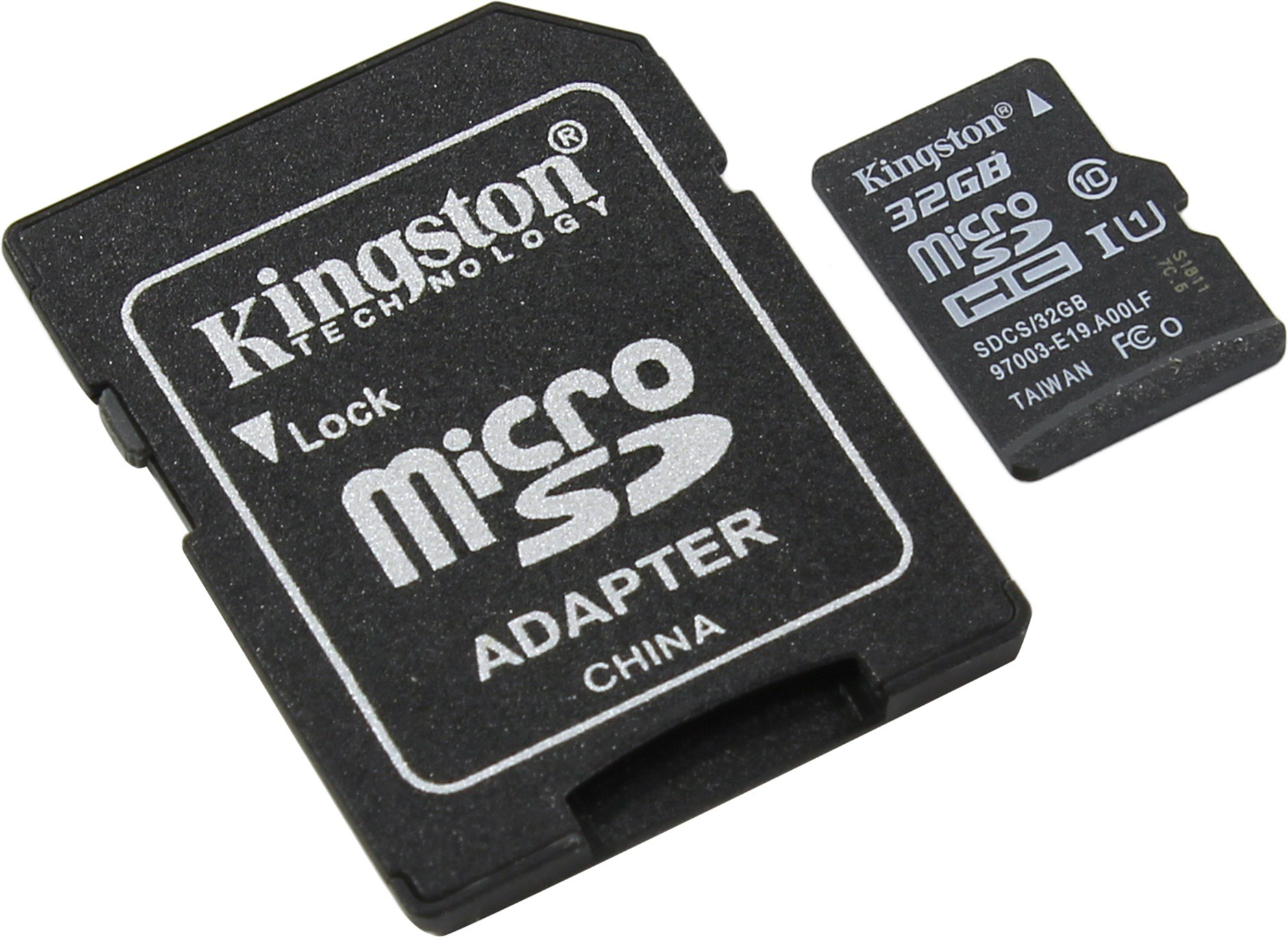 Карта памяти 32Gb Kingston Canvas Select (SDCS/32GB) microSDHC Class 10 UHS-I U1 80/10Mb/s