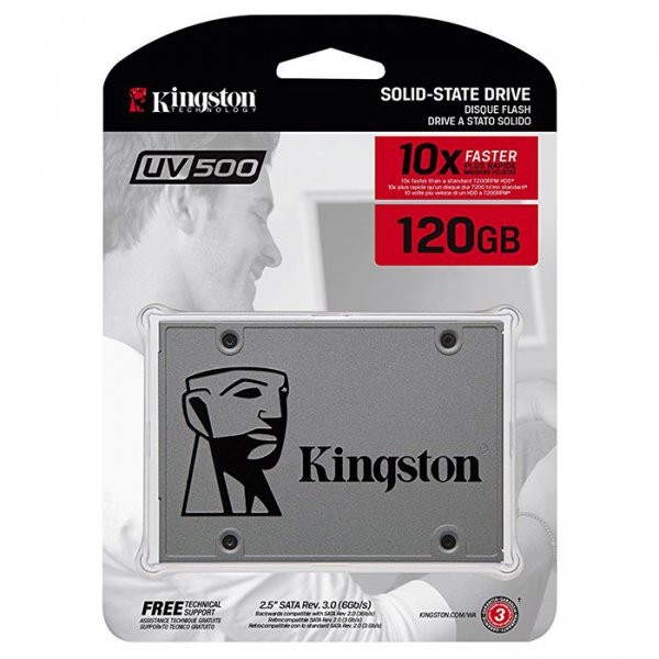 "Жёсткий диск SSD 120Gb Kingston UV500 (SUV500/120G) (SATA-6Gb/s, 2.5"", 520/320Mb/s)"