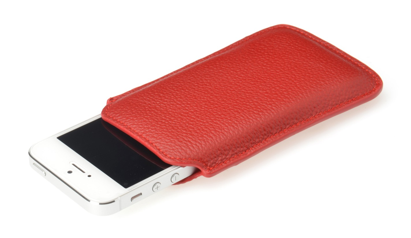 Чехол Ednet (35013) (for iPhone5, Leather, Red)