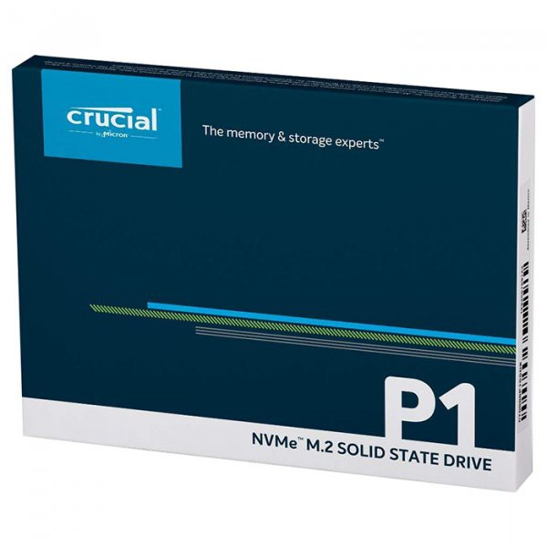 Жесткий диск SSD 500Gb Crucial P1 CT500P1SSD8 (PCI Express 3.0 x4, M.2, 1900/950Mb/s)