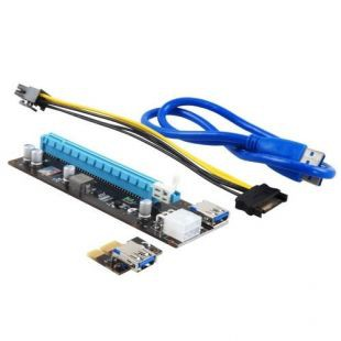 Райзер PCI-Ex1- > PCI-Ex16 TXB901 (6 pin, USB3.0)