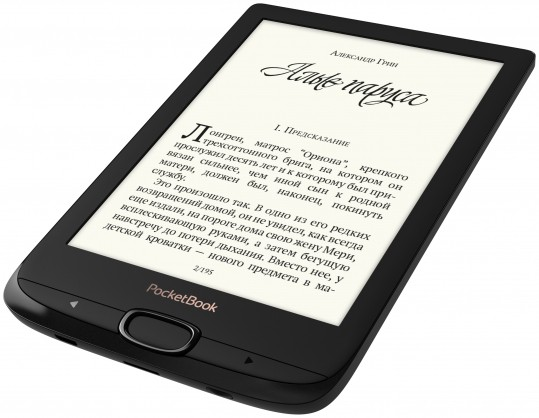 "Электронная книга PocketBook 616 (PB616-H-CIS) Black (6"", E-Ink Carta, 758x1024, 8Gb, подсветка, microSDHC)"