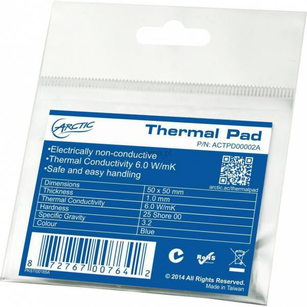 Термопрокладка Arctic Cooling Thermal pad 50x50x1 (ACTPD00002A)