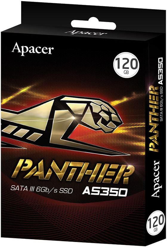 "Жесткий диск SSD 120Gb Apacer Panther AS350 (AP120GAS350) (SATA-6Gb/s, 2.5"", 490/300Mb/s)"