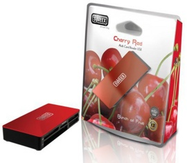Картридер Sweex CR152 Cherry Red USB