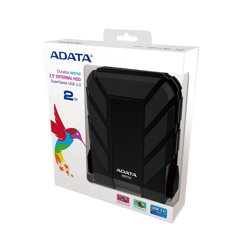 "Внешний жесткий диск 2Tb A-Data DashDrive Durable HD710 AHD710-2TU3-CBK HD710 Black 2.5"" USB 3.0"