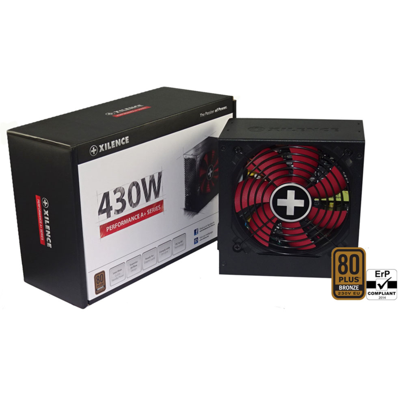 Блок питания 430W Xilence Performance A+ XP430R8 (XN060) (120mm, 24+8pin, 1x6/8pin, 3xMolex, 5xSATA, 80+ Bronze)