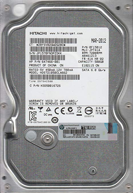 Жесткий диск 500Gb Hitachi Deskstar 7K1000.C (HDS721050CLA662) (SATA-6Gb/s, 7200rpm, 16Mb)