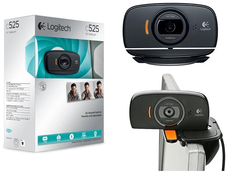 Веб-камера Logitech HD Webcam C525 (960-001064) Black (1280x720, Mic, автофокус, USB 2.0)