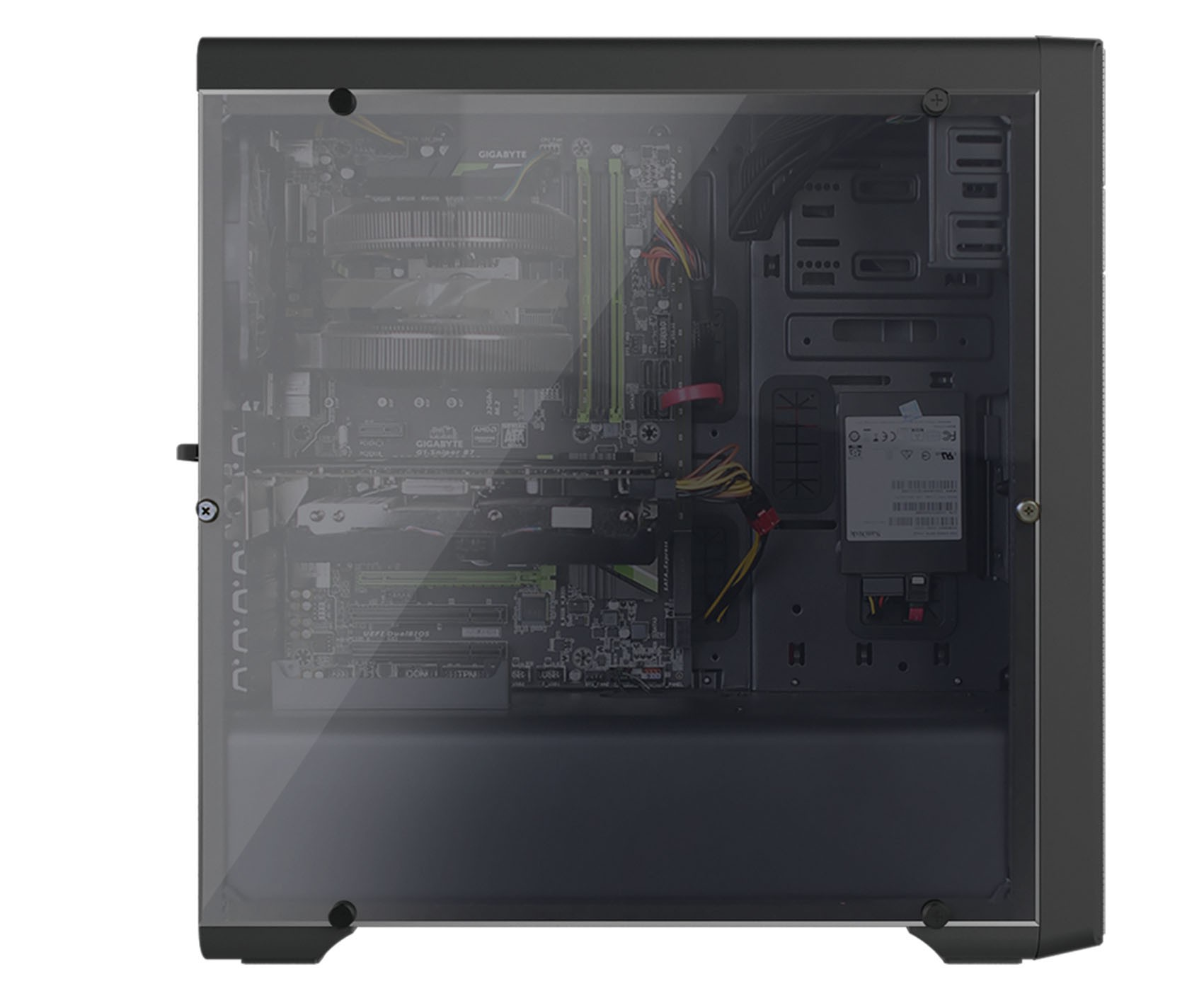 Корпус Zalman N3 Black (Miditower, ATX, USB3, 3xFan, Window, реобас)