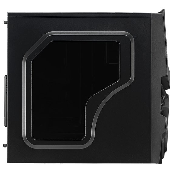 Корпус Aerocool Cyclops Black (Miditower, ATX, Fan, Window)