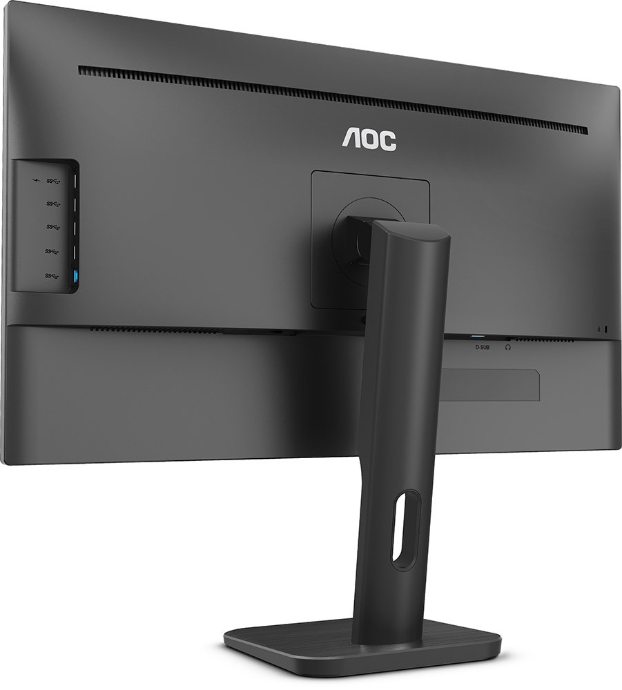 "Монитор 23.8"" AOC 24P1 Black (1920x1080, IPS, Flicker free, D-Sub (VGA), DVI, HDMI, DisplayPort, динамики)"