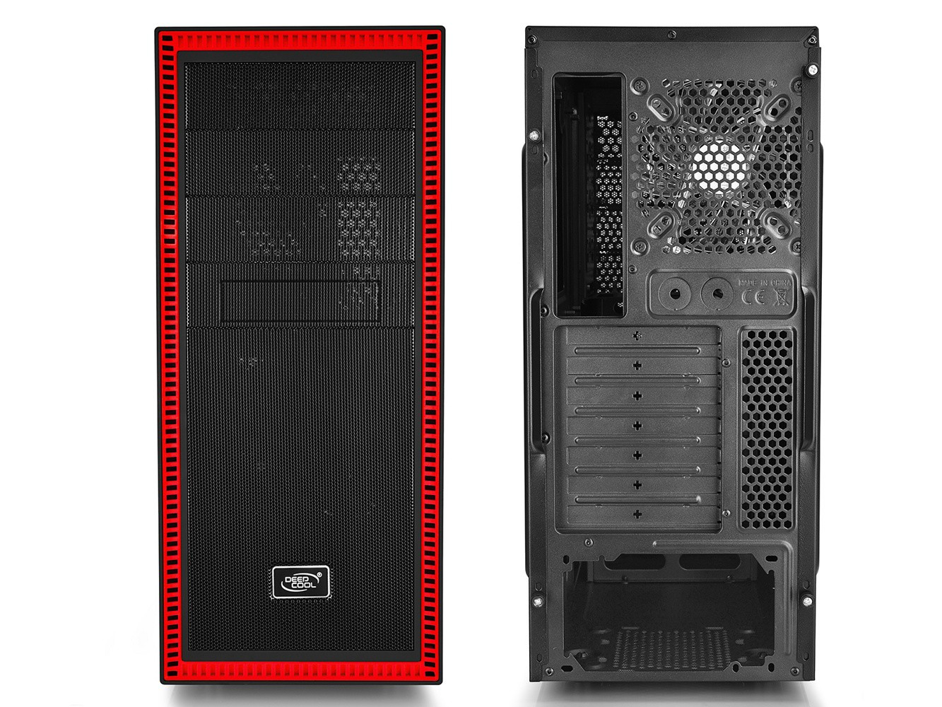 Корпус Deepcool Tesseract SW RD (DP-ATX-TSRBKRD) Black-Red (Miditower, ATX, USB 3.0, 2xFan, Window)