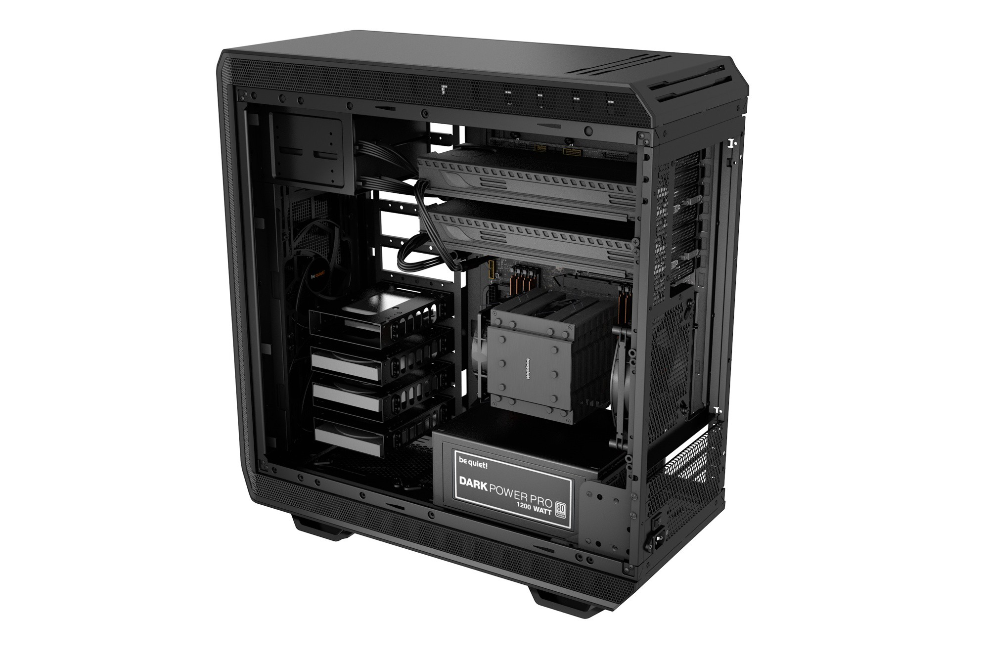 Корпус be quiet! DARK BASE 900 BLACK (BG011) (Bigtower, EATX, USB 3.0, без БП, 3xFan)