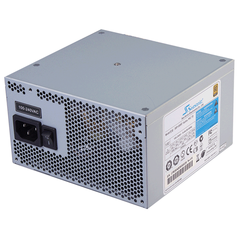 Блок питания 650W Seasonic SSP-650RT Gold APFC F3 Bulk (120mm, 24+8+8pin, 4x6/8pin, 6xMolex, 6xSATA, aPFC)
