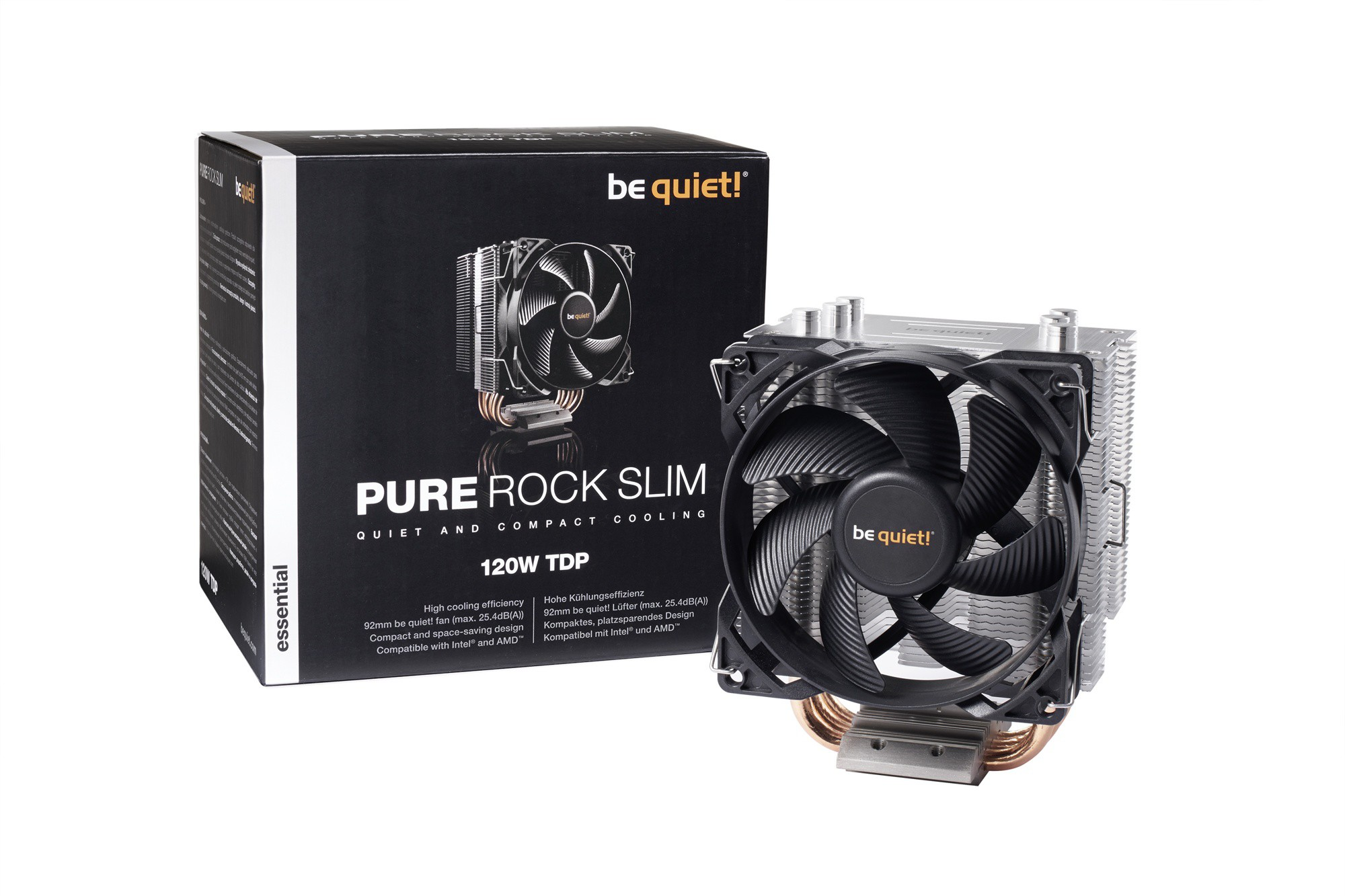 Вентилятор be quiet! Pure Rock Slim (BK008) (SocAll,120W, 4-pin)