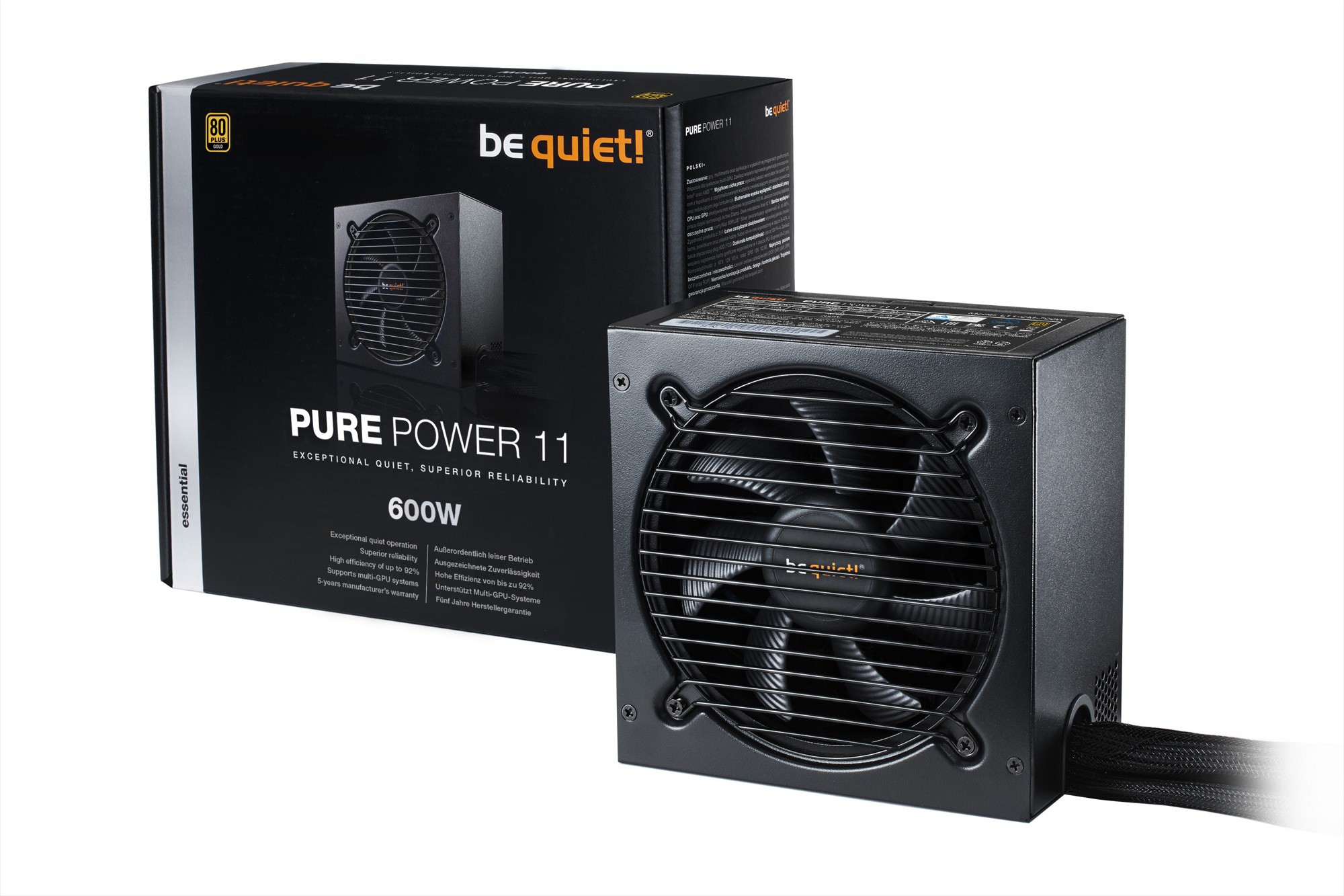 Блок питания 600W be quiet! Pure Power 11 (BN294) (120мм, 24+8pin, 4x6/8pin, 3xMolex, 6xSATA, 80+ Gold)