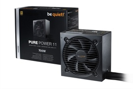 Блок питания 700W be quiet! Pure Power 11 700W (BN295) (120мм, 24+8pin, 4x6/8pin, 3xMolex, 6xSATA, 80+ Gold)