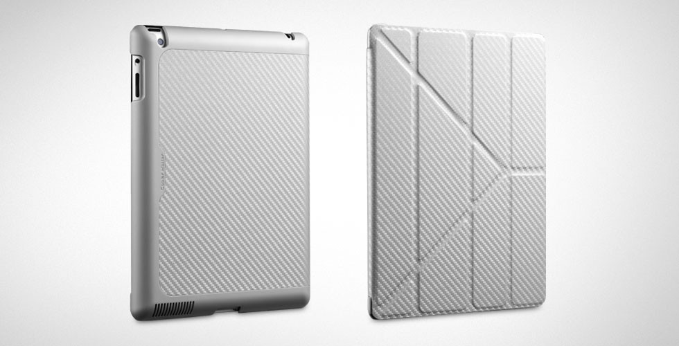 Чехол для планшета Cooler Master Yen Folio Carbone Texture For iPad 2/3/4 (C-IP4F-CTYF-SS) Silver