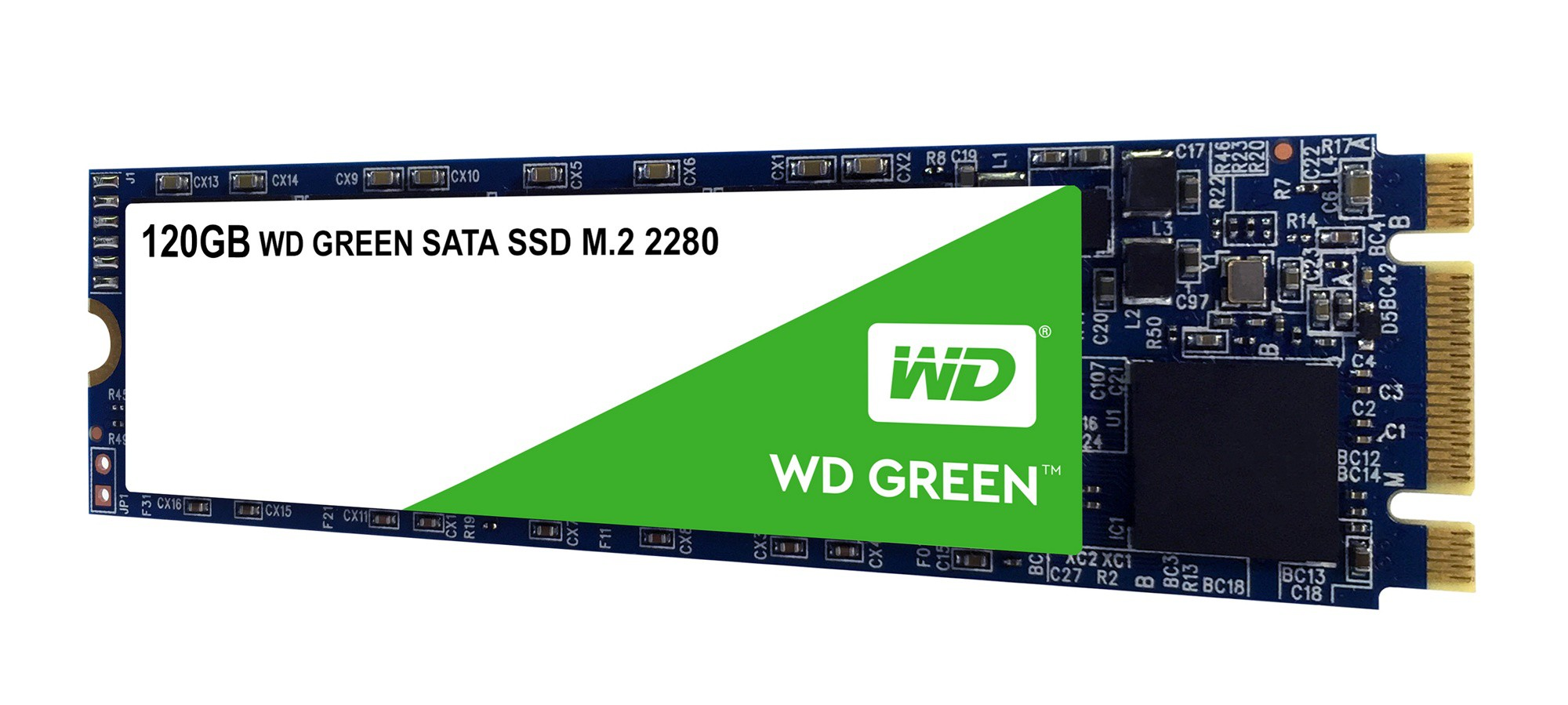Жесткий диск SSD 120Gb Western Digital Green (WDS120G2G0B) (SATA-6Gb/s, M.2 2280, 540/430Mb/s)