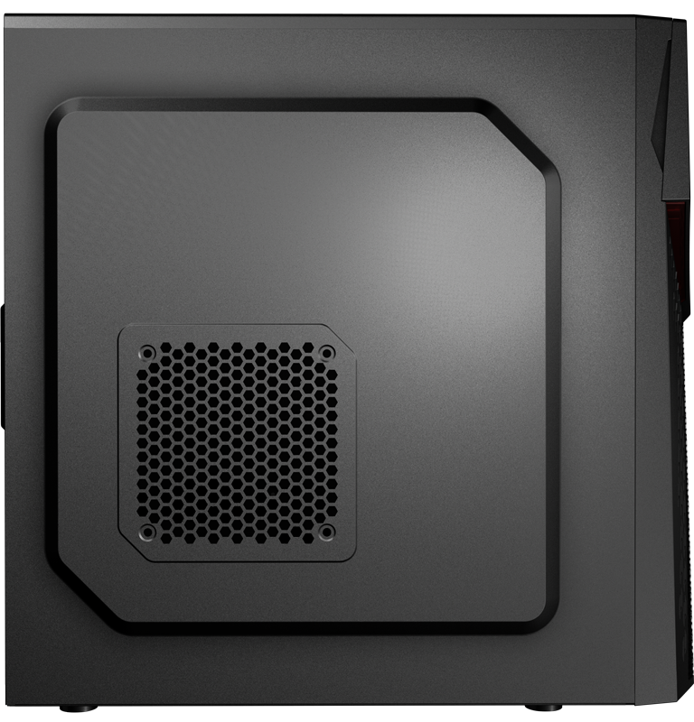 Корпус AeroCool CyberX Black (Miditower, ATX, USB3, Fan)