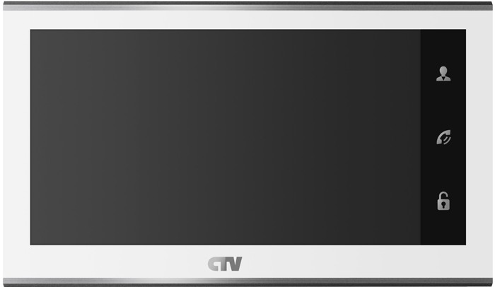 "Видеодомофон CTV M2702MD W (цв. 7"" Hands free, Touch Screen Easy buttons, microSD, белый)"