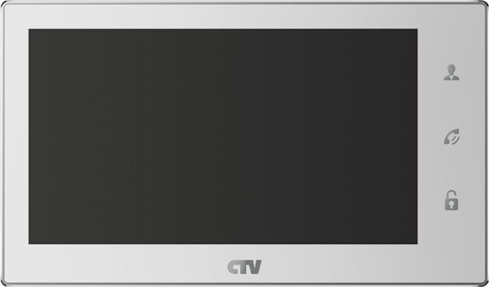 "Видеодомофон CTV CTV-M3701 White (цв. 7"" Hands free, Touch Screen Easy buttons, microSD, дет.движ)"