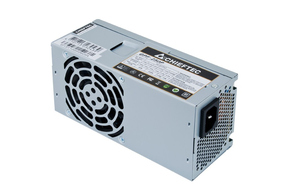 Блок питания 250W Chieftec GPF-250P (80mm, 24+4-pin, 2х6-pin, 2/0/2, 80mm, aPFC)