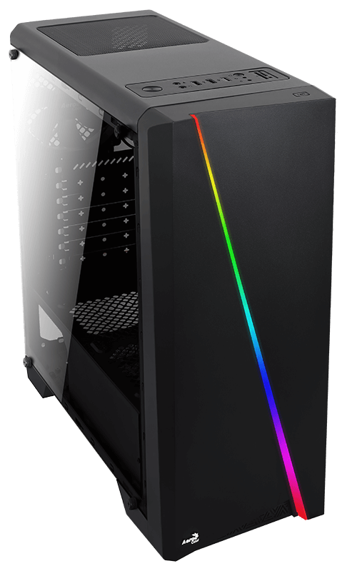 Корпус Aerocool Cylon Black RGB (Miditower, ATX, USB3, Fan, Window)