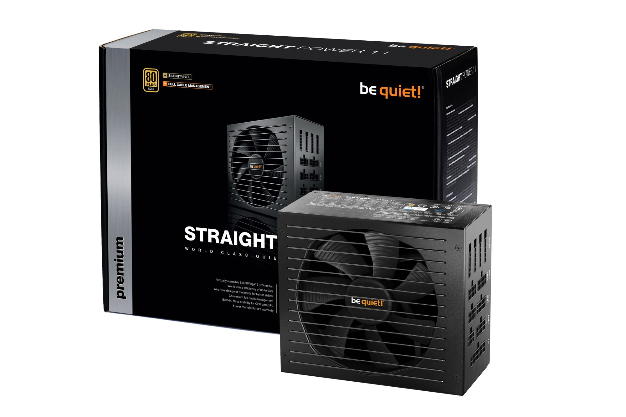 Блок питания 750W be quiet! Straight Power 11 750W (BN283) (24+8+8pin, 4x6/8pin, 4xMolex, 11xSATA, 80+ Gold, модульный)