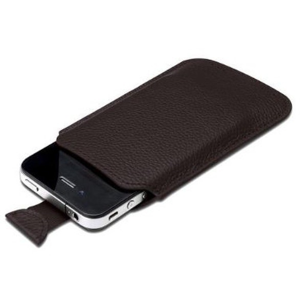 Чехол Ednet (35001) (for iPhone4, Leather, Brown)