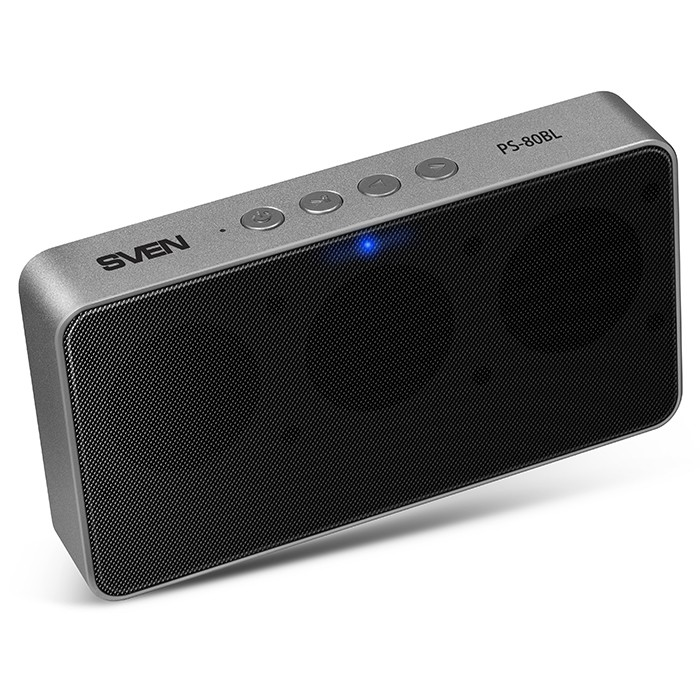 Колонки Sven PS-80BL Black (6W, Bluetooth, FM, аккумулятор)