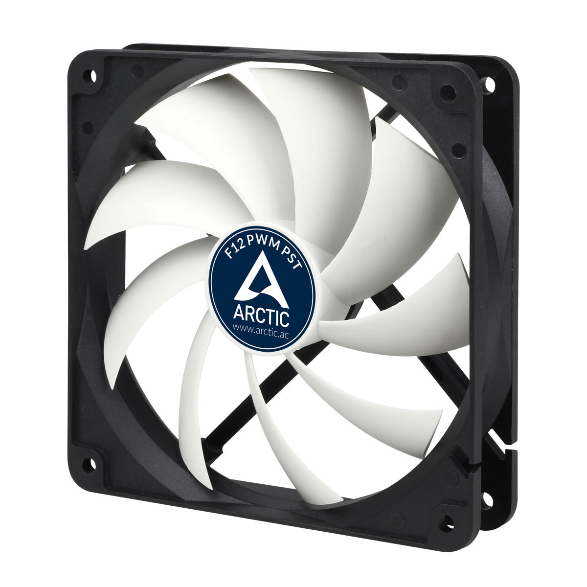 Вентилятор Arctic Cooling F12 PWM PST (AFACO-120P0-GBA01) Black/White (120mm, 600-1350rpm, 53CFM, 22.5dBa, 4-pin+PST)